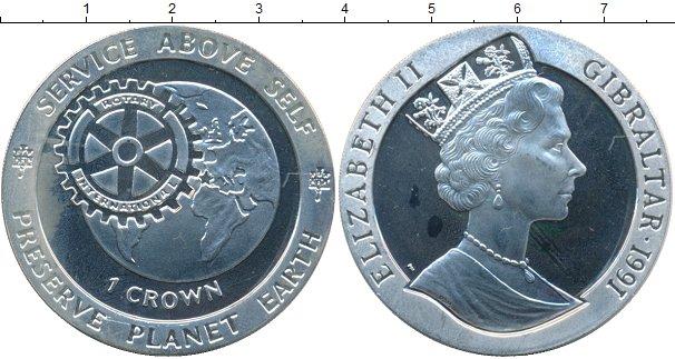 Картинка Монеты Гибралтар 1 крона Серебро 1991