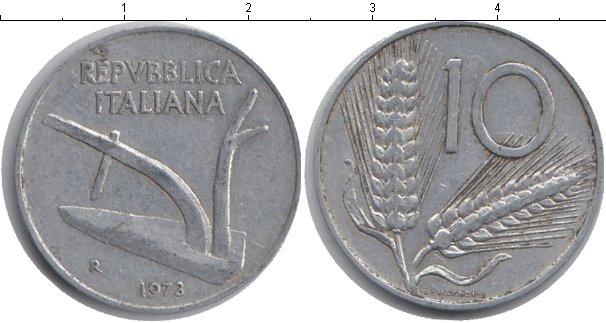 Картинка Барахолка Италия 10 лир Алюминий 1973