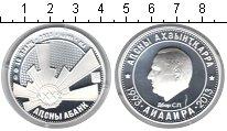 Изображение Монеты Абхазия 10 апсаров 2013 Серебро Proof 20-летие войны в Абх