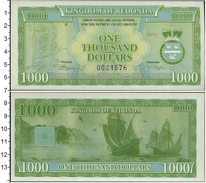 Картинка Боны Редонда 1.000 долларов  2013