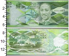 Изображение Боны Барбадос 5 долларов 2011  UNC-