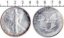 Изображение Монеты США 1 доллар 1990 Серебро UNC- Унция серебра.