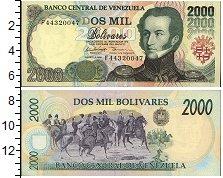 Изображение Боны Венесуэла 2000 боливар 1998  UNC- А. Х. де Сукре. Всад
