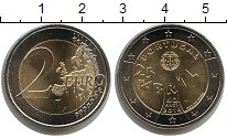 Изображение Мелочь Португалия 2 евро 2014 Биметалл UNC-
