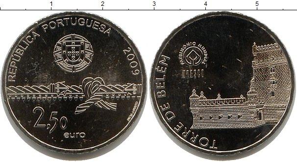 Картинка Мелочь Португалия 2 1/2 евро Медно-никель 2009