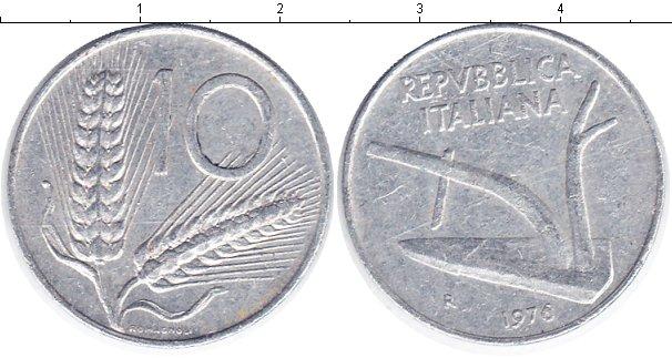 Картинка Барахолка Италия 10 лир Алюминий 1976