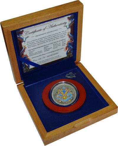 Изображение Подарочные монеты Острова Кука Год дракона 2012 Серебро Proof