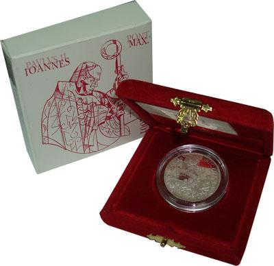 Изображение Подарочные монеты Ватикан Понтифик Иоанн Павел 2001 Серебро Proof