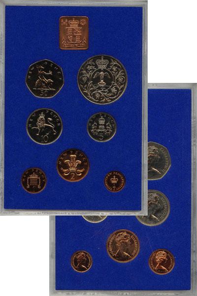 Изображение Подарочные монеты Великобритания Выпуск 1977 года 1977  UNC Выпуск монет 1977 го
