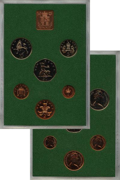 Изображение Подарочные наборы Великобритания Выпуск 1975 года 1975  AUNC Выпуск монет 1975 го