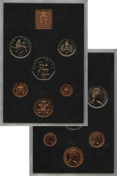 Изображение Подарочные монеты Великобритания Выпуск 1978 года 1978  AUNC Выпуск монет 1978 го
