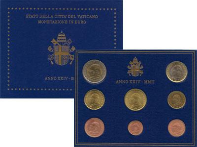Изображение Подарочные монеты Ватикан Выпуск 2002 года 2002  UNC Подарочный евронабор