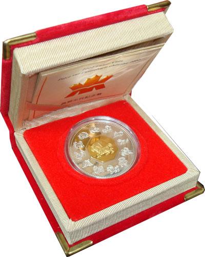 Изображение Подарочные монеты Канада Год лошади 2002 Серебро Proof `Подарочная монета п