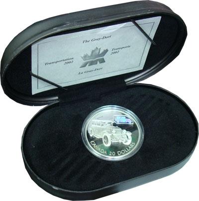 Изображение Монеты Канада 20 долларов 2002 Серебро Proof Подарочная монета по