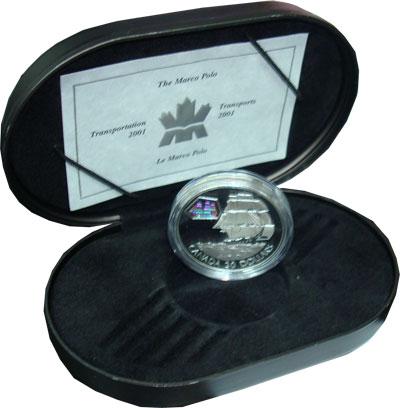 Изображение Подарочные монеты Канада `Парусник ``Марко Поло``` 2001 Серебро Proof