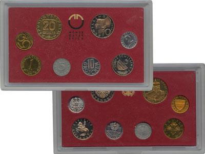 Изображение Подарочные монеты Австрия Выпуск 1990 1990  Proof Выпуск монет 1990 го