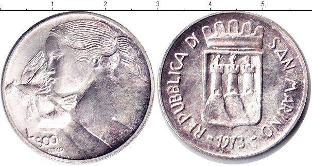 Картинка Монеты Сан-Марино 500 лир Серебро 1973
