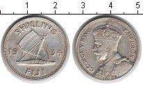 Изображение Монеты Фиджи 1 шиллинг 1934 Серебро XF Георг V
