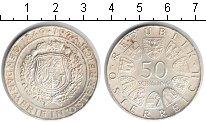 Изображение Монеты Австрия 50 шиллингов 1974 Серебро XF 125 лет жандармерии.