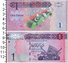 Изображение Боны Ливия 1 динар 0  UNC- /