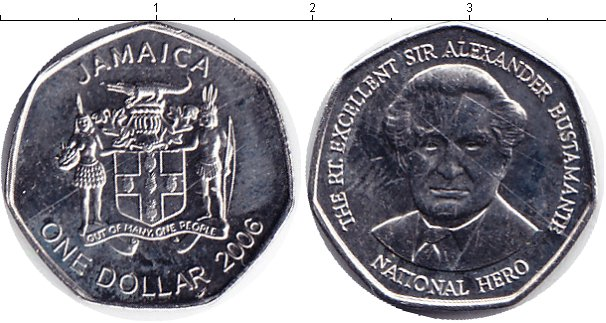 Картинка Мелочь Ямайка 1 доллар Медно-никель 0