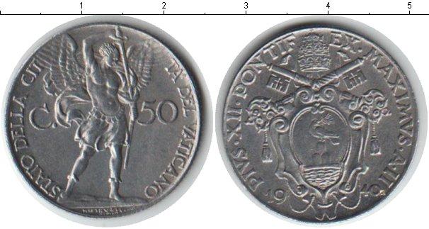 Картинка Монеты Ватикан 50 сентесимо Медно-никель 1940