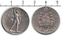 Изображение Мелочь Ватикан 50 сентесимо 1936 Медно-никель XF