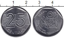 Изображение Мелочь Бразилия 25 сентаво 1995 Медно-никель UNC- ФАО