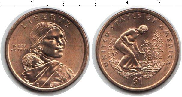 Купить монету сша 1 доллар - 2009 год.
