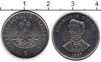 Изображение Мелочь Гаити 5 сентим 1997 Медно-никель