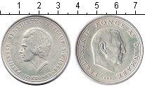 Изображение Монеты Дания 10 крон 1968 Серебро XF Фредерик IX.