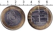 Изображение Монеты Словения 3 евро 2010 Биметалл XF
