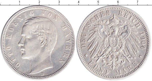 Картинка Монеты Бавария 5 марок Серебро 1904