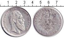 Изображение Монеты Вюртемберг 5 марок 1875 Серебро VF Карл.
