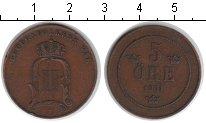 Изображение Монеты Швеция 5 эре 1901 Медь XF