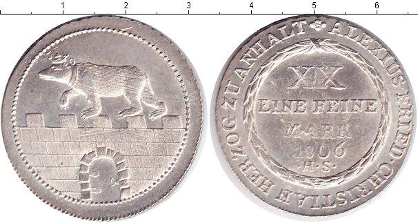 Картинка Монеты Анхальт 2/3 талера Серебро 1806