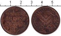 Изображение Монеты Палестина 2 милса 1941 Медь XF Британский мандат.