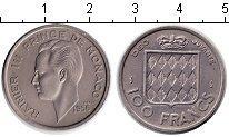 Изображение Монеты Монако 100 франков 1956 Медно-никель XF Ренье III.