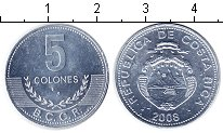 Изображение Мелочь Коста-Рика 5 колон 2008 Алюминий UNC-