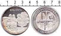 Изображение Монеты Исландия 1.000 крон 1974 Серебро Proof-