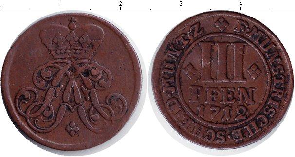 Картинка Монеты Мюнстер 3 пфеннига Медь 1712