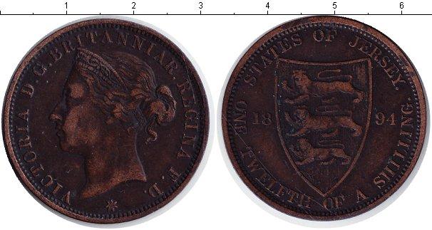 Картинка Монеты Остров Джерси 1/12 шиллинга Медь 1894
