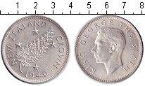 Изображение Монеты Новая Зеландия 1 крона 1949 Серебро XF