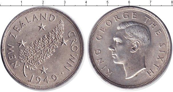 Картинка Монеты Новая Зеландия 1 крона Серебро 1949