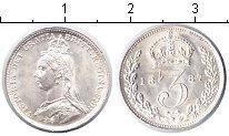 Изображение Монеты Великобритания 3 пенса 1887 Серебро UNC- Виктория.