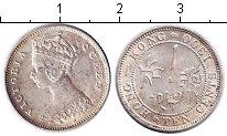 Изображение Монеты Гонконг 10 центов 1900 Серебро XF Виктория