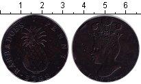 Изображение Монеты Барбадос 1 пенни 1788 Медь XF Колония Великобритан