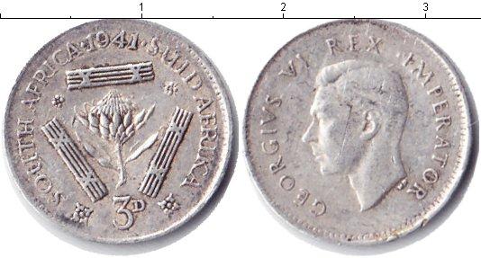 Картинка Монеты ЮАР 3 пенса Серебро 1941