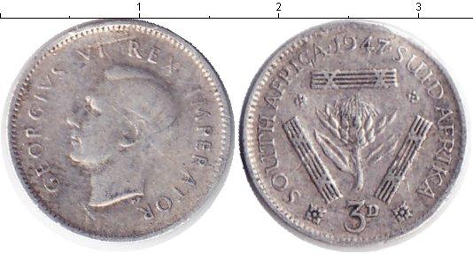 Картинка Монеты ЮАР 3 пенса Серебро 1947