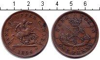 Изображение Монеты Канада 1 пенни 1854 Медь XF токен